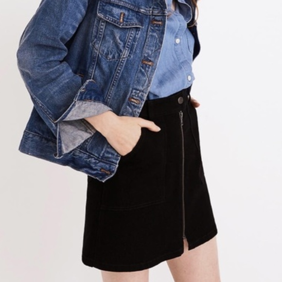 Madewell Dresses & Skirts - Madewell | Denim Utility Zip Front Skirt 25